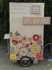 Tour de France Countdown (Dave_Johnson) Tags: clock bike bicycle sheffield tourdefrance countdown wintergardens southyorkshire granddepart granddépart