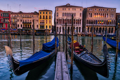 Gondolas at rest (Jim Nix / Nomadic Pursuits) Tags: aurorahdr2017 europe grandcanal hdr italy jimnix lightroom macphun nomadicpursuits venezia venice architecture canals gondolas palaces sunset travel