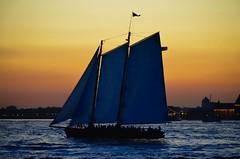 Sailboat on the Hudson (DOTCALM9) Tags: hudsonriver nyc sailboat newjersey sunset nikond5100 september 2016