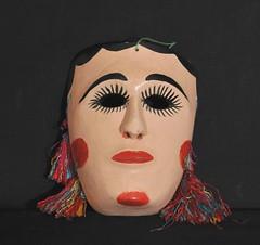 Oaxaca Mask Mixtec Coast (Teyacapan) Tags: masks mascaras mexican mexico oaxacan crafts folkart mixtec costa mujer woman faces