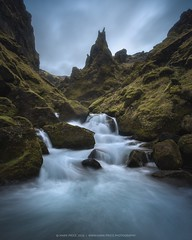 Highland Wilderness (markster70) Tags: waterfal iceland europe canyon highland water explore today landscape wilderness wild river flow drama