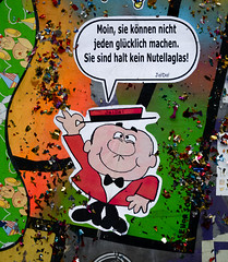 HH-Wheatpaste 3088 (cmdpirx) Tags: hamburg germany reclaim your city urban street art streetart artist kuenstler graffiti aerosol spray can paint piece painting drawing colour color farbe spraydose dose marker stift kreide chalk stencil schablone wall wand nikon d7100 paper pappe paste up pastup pastie wheatepaste wheatpaste pasted glue kleister kleber cement cutout