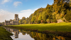 Fountains Abbey(3) (S.R.Murphy) Tags: fountainsabbey landscape october2016 studleygardens urbanlandscape fujifilmx100t nature unesco nationaltrust englishheritage building oldbuilding architecture ngc river riverskell