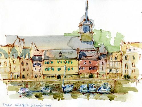 Port de Palais, marée basse