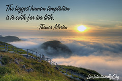 quote-liveintentionally-the-biggest-human-temptation-is (non square) (pdstein007) Tags: quote inspiration inspirationalquote carpediem liveintentionally