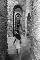 Running within the walls (savolio70) Tags: blackwhite blackandwhite bw monocromo biancoenero running run corsa fuga convergence patrol walls mura aurelianwalls muraaureliane savolio stefanoavolio