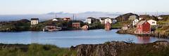 Change Islands (Edmonton Ken) Tags: ocean bay house old red white rock stilts newfoundland settlement change islands