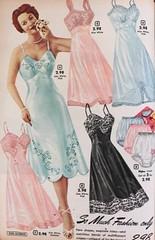 Ladies Slips & Panties (Knickers) 1950's (lynn_morton3500) Tags: fullslip slip panties knickers underwear ladieswear lady ladies model 1950s retro vintage vintagefashion