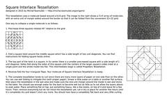 Square Interlace Tessellation CP with instructions (Micha Kosmulski) Tags: origami tessellation instruction diagram tutorial cp creasepattern michakosmulski