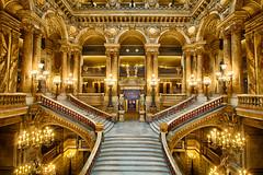 Interior of Palais Garnier (FarzinPhoto) Tags: interior paris palaisgarnier opranational france italianstyle architecture hdr stairs farzinphoto