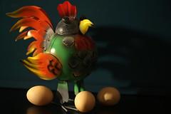 surprised rooster.... (Elly Snel) Tags: ansh scavenger17 rooster haan eggs eieren arranged gearrengeerd colors kleuren challengeyouwinner cyunanimous cy2