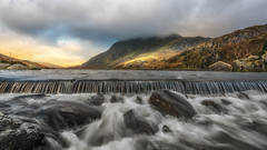 Another soaking (Einir Wyn) Tags: landscape stream winter wet weir ogwen valley lake light mountains trees countrylife tryfan gold wales cymru sky love longexposure nikon beautiful blue boathouse outdoor rugged uk northwales nature natural nationaltrust