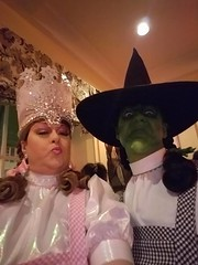 Glinda the Good Witch and the Witch of the West dressed as DOrothy for Halloween 2016 (Halloween in Oz) Tags: seanbrown wickedwitchofthewest halloween2016 salem ma hawthornehotelcostumeball sevendeadlysins glinda oz halloweeninoz salemhauntedhappenings2016