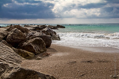 evening breeze (agnieszka.reece) Tags: sea coast beach waves sand rocks view outdoor landscape seaside shore water ocean