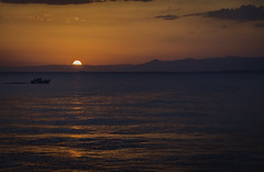 colorful sunset.. (ckollias) Tags: arkitsaport astronomy beautyinnature colorfulsunset colors day greece landscape mountain nature nauticalvessel nopeople outdoors scenics sea sky sunset tranquility water