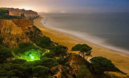 Praia da Falesia in the middle of the night