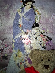 A Japanese lady (pefkosmad) Tags: jigsaw puzzle leisure hobby pastime 1000pieces complete ted teddy bear cute soft toy plush fluffy tedricstudmuffin