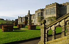 Haddon Hall, Bakewell, Derbyshire (Blue sky and countryside) Tags: haddon hall bakewell medieval manor house peak district national park winter sunshine england pentax gardens beautiful statelyhome mannersfamily