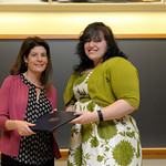 Professor Eva Pomerantz, Stephanie Boas: Honors in Psychology & James E. Spoor Scholarship recipient