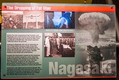 Nagasaki is Bombed (Serendigity) Tags: science usa japan war bomb fatman atomicbomb bradbury nagasaki newmexico unitedstates display museum wwii losalamos
