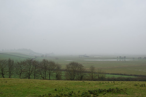 Misty Somerset levels
