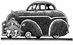 Miles of smiles (Don Moyer) Tags: car auto automobile vehicle grill ink drawing moleskine notebook moyer donmoyer brushpen