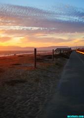 ABikePathSunset (mcshots) Tags: usa california socal losangelescounty summer sunset coast sky clouds hot humid evening sun 2015 stock mcshots