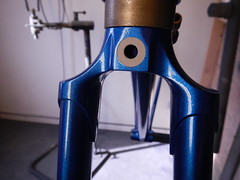 Cast Fork Crown (Capricorn Bicycles) Tags: handmade custom steel bike bicycle frame lugged lugs house kolor paint retro paragon machine works road