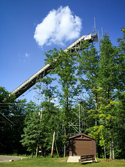 Ski Jump (J&E Adventures) Tags: trees skiing uppermichigan iphone nature exploring ironmountain phonephotography up michigancoast puremichigan upperpeninsula michigan unitedstates us
