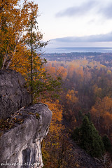 Early Morn (maureen.elliott) Tags: earlymorning view escarpment rock trees fall autumn niagaraescarpment brucetrail