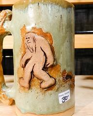Sasquatch mug, Denise Davis, Karmadilo Clayworks (marketkim) Tags: formen holidaymarket giftguide soeug stolenfrominstagram eugene oregon saturdaymarket festival artfair eugenesaturdaymarket artfestival