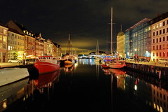 Copenhagen's Nyhavn (sheing.coe) Tags: copenhagen denmark europe nyhavn danish night canal reflection