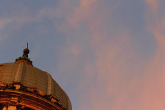 above (Hachi7gab) Tags: above sky color tramonto twilight church pink clouds evening night day photo canon minimal cupola