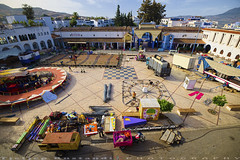 Opening An Amusement park (T Ξ Ξ J Ξ) Tags: morocco chefchaouen sefasawan d750 nikkor teeje nikon2470mmf28 blue city market