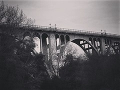 Colorado Street Bridge, Pasadena, California Looking up from the Arroyo Seco. Most people drive over this bridge without ever seeing this lovely view from the bottom. Taken during a walk along the river with friends. #pasadena #california #bridge #archite (dewelch) Tags: ifttt instagram colorado street bridge pasadena california looking up from arroyo seco most people drive over this without ever seeing lovely view bottom taken during walk along river with friends architecture structure blackandwhite blackandwhitephotography bnwdrama bnwlegit bnwcaptures gfbnw bnwmaster la losangeles iglosangeles whereamila instalosangeles caligrammers lagrammers losangelesgrammers discoverla conquerla unlimitedlosangeles californiacaptures uglagrammers