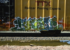 KOYN (Electric Funeral) Tags: railroad art digital train canon photography graffiti midwest nebraska paint railway iowa fremont kansascity railcar missouri lincoln kansas traincar omaha boxcar graff aerosol freight desmoines cdc freighttrain councilbluffs benched benching xti freighttraingraffiti koyn