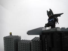 Working on bending the stomach next. (1upLego) Tags: pose lego bend batman creator custom