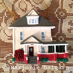 Home Sweet Home CUSTOM Polymer Clay House Ornament (threemoonbabies) Tags: house home handmade polymerclay ornament etsy custom madetoorder threemoonbabies 3moonbabies
