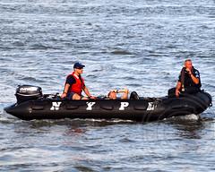 NYPD Marine Unit Police Officers, 2013 Aquaphor New York City Triathlon (jag9889) Tags: city nyc rescue ny newyork bike race swim boat manhattan police nypd vessel run inflatable bikin