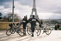 paris (Matthew W Ware) Tags: paris france tower film europe police eiffel contax t2