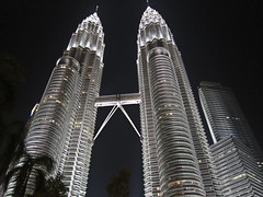 Petronas Towers (1Nine8Four) Tags: street city food night canon asia pointandshoot nightshots kualalumpur canons95