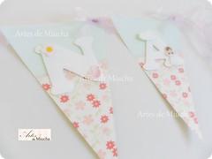 bandeirola Nina (Artes de Miucha com papel) Tags: paper handmade artesanato craft batizado beb nome menina decorao anjo nascimento gril ch bandeirola