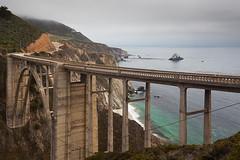 Bixby Bridge (flopper) Tags: california cloud beach coast bigsur pacificocean connection bixbybridge