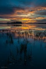 Astotin Lake this evening (WherezJeff) Tags: sunset summer lake canada nationalpark august alberta elkisland fortsaskatchewan astotin