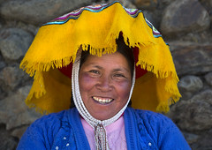 Woman In Traditional Clothing, Qoyllur Riti Festival, Ocongate Cuzco, Peru (Eric Lafforgue) Tags: people peru latinamerica southamerica smile hat smiling yellow festival horizontal inca cuzco outdoors photography shrine colorful catholic adult religion celebration andes tradition spiritual cultures pilgrimage sanctuary adultsonly oneperson altiplano headdress frontview lifestyles headwear headandshoulders placeofworship quechua headress traditionalclothing realpeople  traveldestinations colorimage religiousfestival onewomanonly lookingatthecamera ocongate theamericas colourimage 1people indigenousculture cuzcoregion   quyllurriti qoyllurriti peruvianculture quyllur cuscoregion qoyllorriti   catholicpilgrimage indigenouspopulation  sinakaravalley starsnowfestival mountausungate mtausungate qollurriti unescoculturalheritageofhumanity per2925