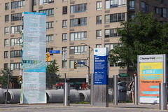 2013-06-24_17-04-22 (djp3000) Tags: construction roadworks canoneosrebelt3i ef28105mmf3545usm canont3i eost3i rebelt3i t3i canon toronto waterfront harbourfront queensquay pipes businessdirectory tee building trafficlight