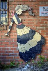 Lucy with wings (J-C-M) Tags: street city urban streetart pasteup art wall graffiti lucy wings artwork alley nikon artist grafitti collingwood artistic australia melbourne wallart victoria inner alleyway lane laneway d200 lucylucy