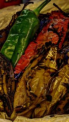 red and green chile (JoelDeluxe) Tags: chile autumn red panorama newmexico green fall or harvest nm joeldeluxe hdr pleasure endorphins greenchile