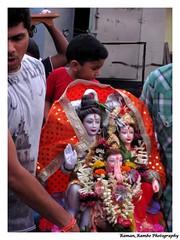 Ganesh Chaturthi 2013 - Ganapati Gauri Visarjan 5th Day (Raman_Rambo) Tags: india beautiful festival creek lights god indian decoration celebration holy ganesh pooja maharashtra mumbai festivities puja gauri chaturthi ganapati visarjan diety khadi dombivli poojan 2013 gajanan ganaraya ramansharma vignaharta