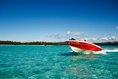 Speed Boat @ le aux Cerfs, Mauritius!!! (Natesh Ramasamy (Thanks for 1.6 Million+ views)) Tags: ocean blue sea vacation sky holiday slr beach nature water speed canon island photography drive boat photo paradise honeymoon driving picture ile pic mauritius aux canoneos cerfs natesh ramasamy 550d t2i canon550d canont2i kissx4 canonkissx4 ramnaganat